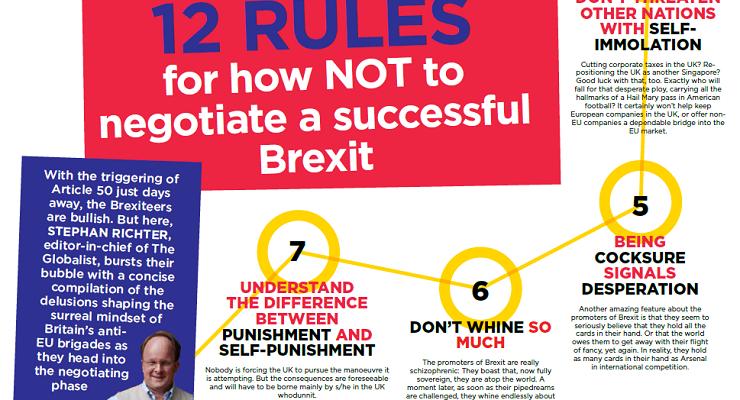 12 Regeln, wie man den Brexit nicht verhandeln sollte